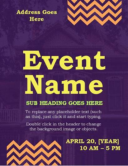 Event Flyer Templates Word Poster Flyers Zigzag