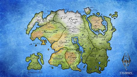 map  tamriel  elder scrolls game wallpapers  images