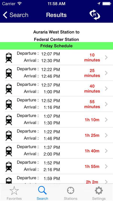 denver light rail schedule itransitbuddy rtd light rail apppicker