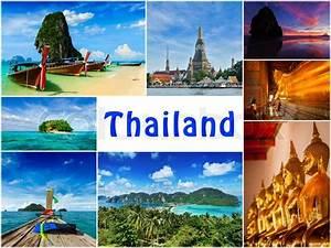 Thai travel tourism concept design - collage of Thailand ...