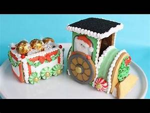 Decorating 3D Gingerbread Train Cookie Kit with royal ...