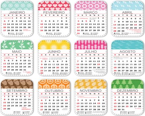 base calendario estampado infantil imagem legal