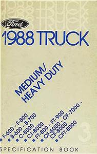 1988 Ford Medium Heavy Truck Service Spec Book F600 F800