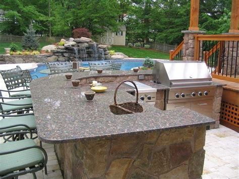 how to build a outdoor kitchen island 20 lavish poolside outdoor kitchen designs 9298