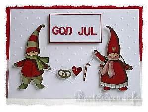 Edle Weihnachtskarten Basteln : weihchtskarten basteln god jul d nische weihnachtskarte ~ A.2002-acura-tl-radio.info Haus und Dekorationen