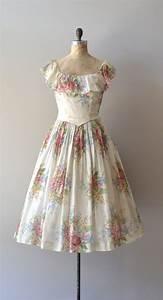 vintage 1940s dress / floral 40s dress / Meadow's End dress