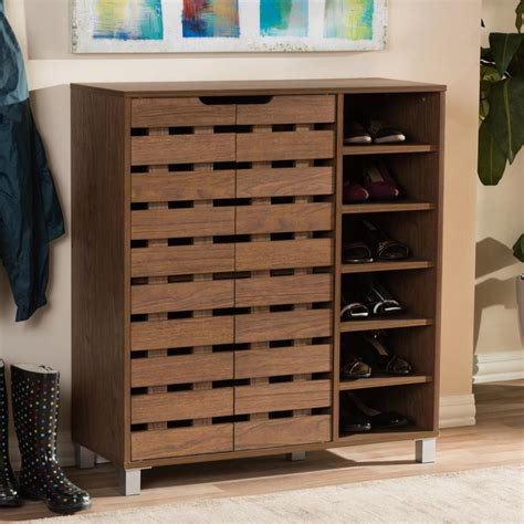 Shoe Cabinet Wood by Shoe Racks For Closets Hgtv