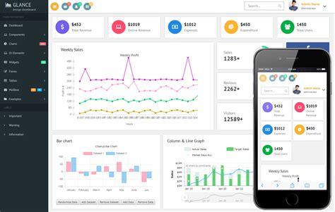 Bootstrap Dashboard Template Glance Design Dashboard Bootstrap Responsive Web Template