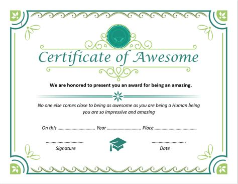 certificate  awesomeness templates  unique designs
