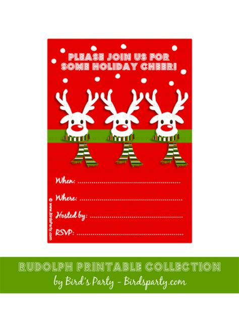 printable christmas invitations free printable christmas party invitations templates
