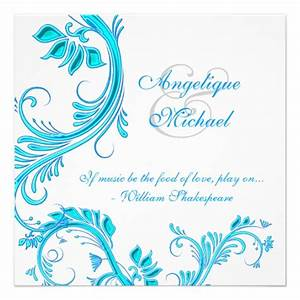 aqua blue wedding anniversary engagement 525x525 square With wedding invitation designs aqua blue