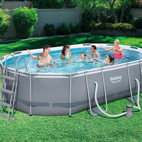 piscine hors sol autoportante tubulaire bestway l 4 88 x l 3 47 x h 1 07 m leroy merlin