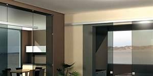 Porte Coulissante Plafond : rail k754 pour porte coulissante tout verre pose en applique pose au plafond eclisse france ~ Melissatoandfro.com Idées de Décoration