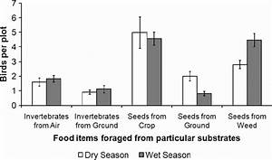 Seasonal Comparison Of Mean Numbers Of Birds Per Plot