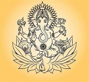 Lord ganesha indian god ~ Graphics ~ Creative Market