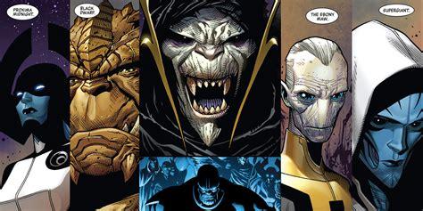 black order thanos characters marvel comics infinity