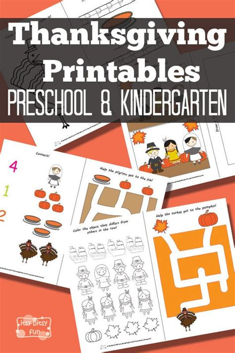 thanksgiving preschool pack thanksgiving activities and