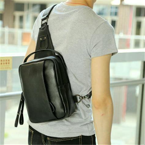 jual import slingbag casual leather mens tas selempang tablet hp kulit pu pria tas cowok