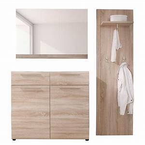 Garderobe 3 Teilig : garderobe savona 3 teilig eiche dekor ~ Indierocktalk.com Haus und Dekorationen