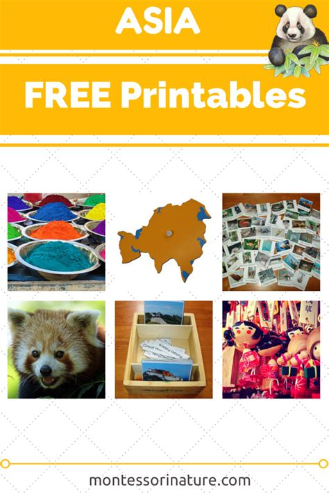 asia  printables resources   montessori
