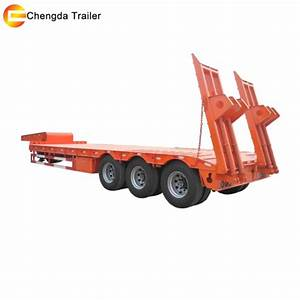 Bulker Truck China 3 Axle 60ton Lowbed Lowboy Semi Trailer Low Bed