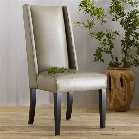 willoughby leather dining chair sets leather dining
