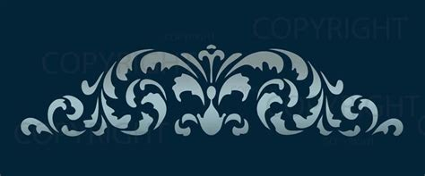large wall border damask stencil pattern faux mural