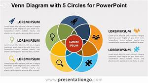 Venn Diagram With 5 Circles For Powerpoint