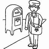 Mailman Clipart Coloring Cliparts Sheet Drawing Occupation Clip Jobs Labor Printables Postman Getdrawings Presentations Websites Reports Powerpoint Projects Library Webstockreview sketch template