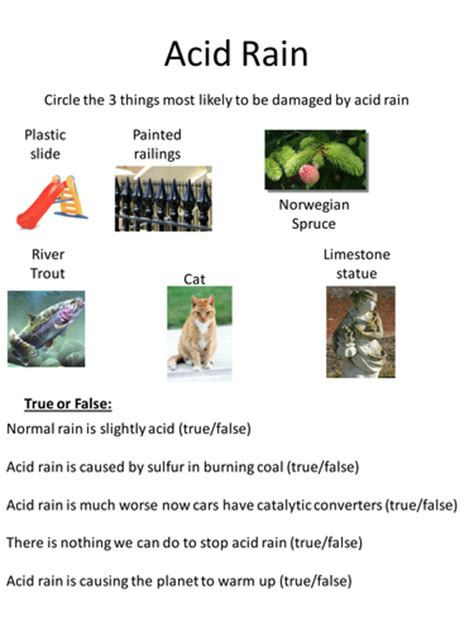 Acid Rain Powerpoint + Worksheet By Lilbeetle  Teaching Resources Tes