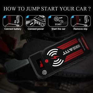 2000a Car Jump Starter  Portable Auto Wireless Charge