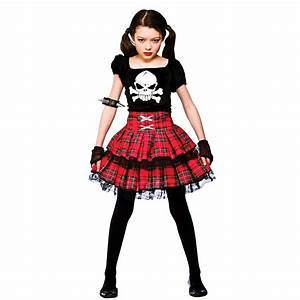 Childrends Girl Freaky Punk Chick Halloween Horror Scary ...