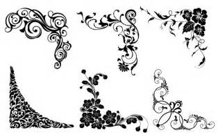vector floral corners vector free