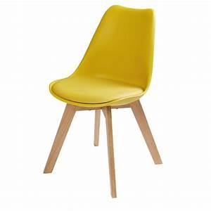 Chaise scandinave jaune moutarde Ice Maisons du Monde