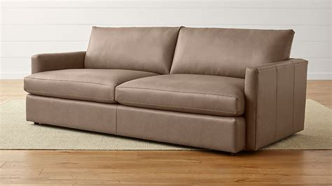 crate and barrel settee lounge ii leather 93 quot sofa crate and barrel