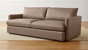 Lounge Sofa Leder : lounge ii petite leather 93 sofa crate and barrel ~ Watch28wear.com Haus und Dekorationen