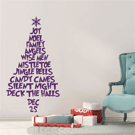 If you like this style of art, you'll love my soulful painting course (which this. Christmas Tree Wall Decal Made Vinyl Decor Wall Decal - CustomVinylDecor.com
