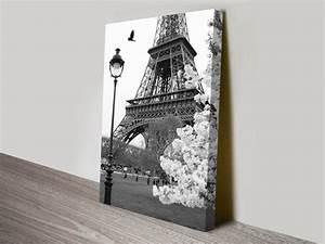 Eiffel Tower Portrait Canvas Prints Australia