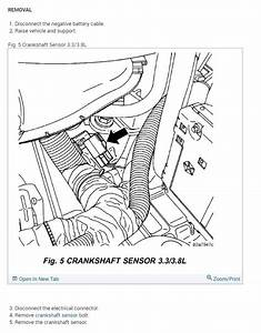 Crankshaft Position Sensor Location  I Have My Van Opened