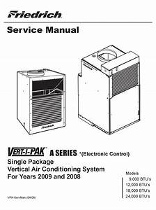 Friedrich 000 Btu U0026 39 S Service Manual Pdf Download