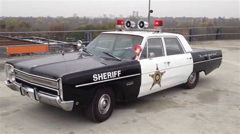 Plymouth Fury II 1968 Police Car   YouTube