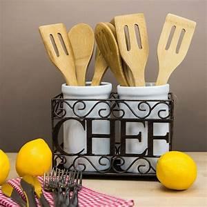 Utensil, Crock, Holder, In, Kitchen, Utensil, Holders