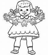 Coloring Printable Printables Paper Doll Template Decorations Colouring Blank Holiday Coloringhome Templates Activities Popular Dolls Decoration Printing Christian Tree sketch template