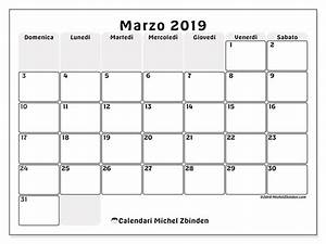 Calendario marzo 2019 44DS