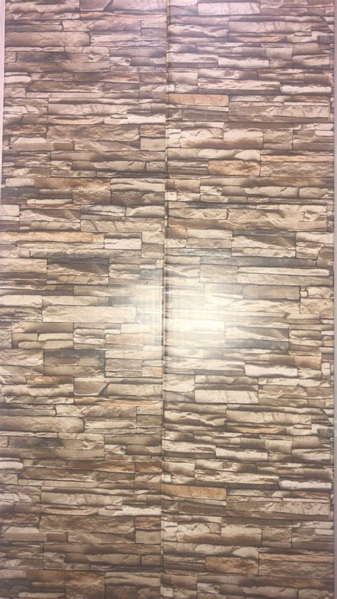 pvc plastic panels  walls bricks brown zebrapk