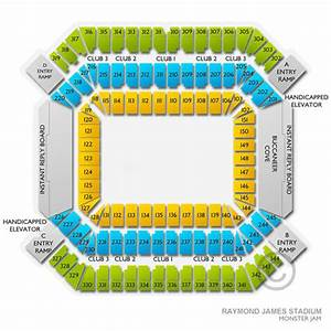 Outback Bowl Stadium Seating Chart Raymond James Stadium Tickets And Seating Charts