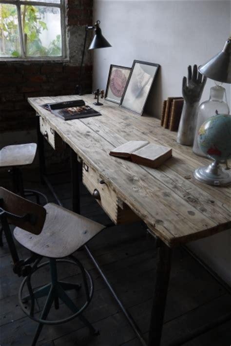 bureau poste de travail bureau industriel poste de travail metal et bois