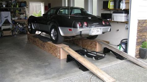 corvette  ramps build home  car ramps garage