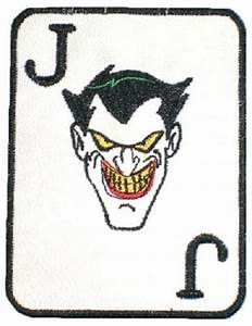 JOKER CARD Embroidered Patch BATMAN Animated Series Ledger ...