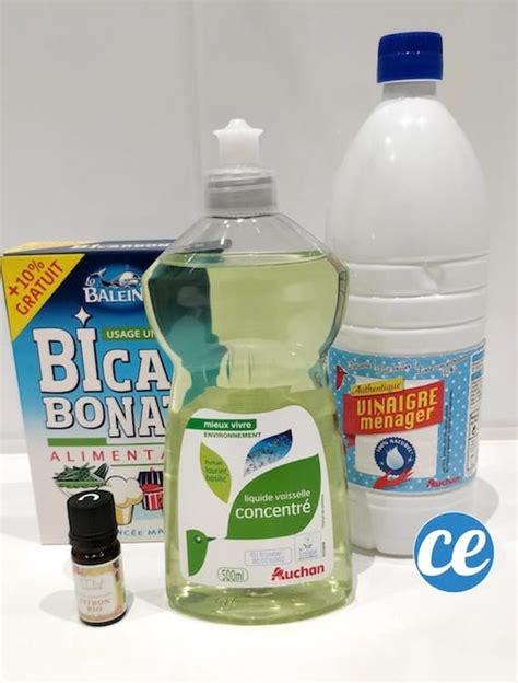 nettoyer matelas bicarbonate vinaigre liquide vaisselle comment fabriquer liquide vaisselle bio facile pas